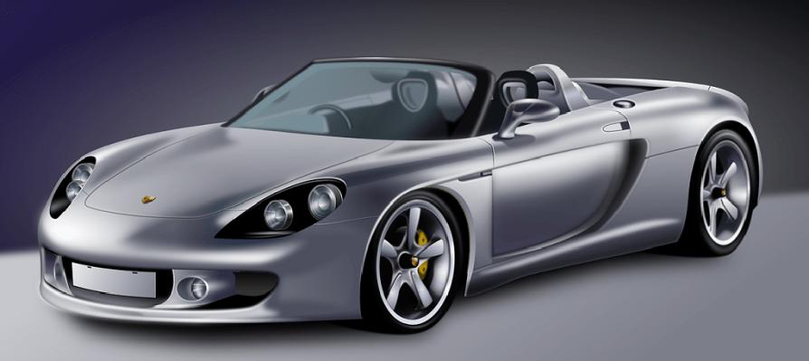gray sport car