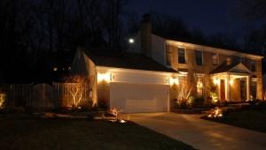 Photo of outdoor house lighting