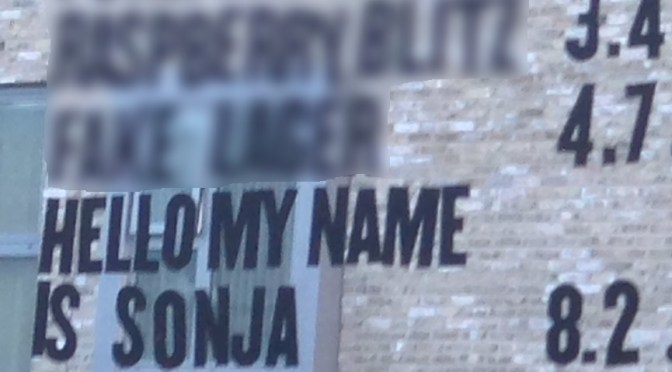 Hello My Name Is Sonja - BrewDog Brewery
