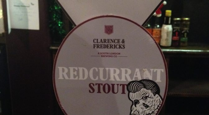 Redcurrant Stout – Clarence & Fredericks brewery