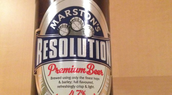 Resolution Premium Beer - Marston's Brewery