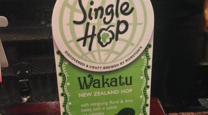 Single Hop Wakatu - Marstons Brewery