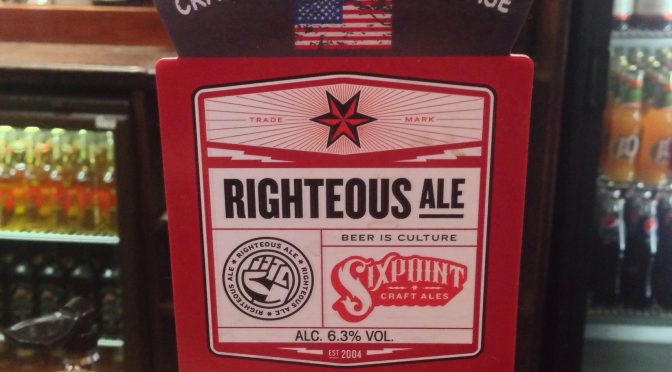 Righteous Ale – Sixpoint (Adnams) Brewery