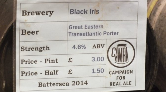 Great Eastern Transatlantic Porter - Black Iris Brewery