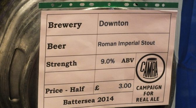 Roman Imperial Stout – Downton Brewery