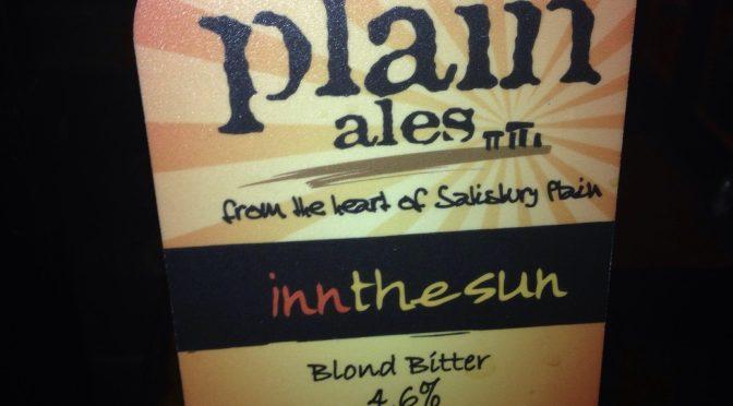 Inn The Sun – Plain Ales