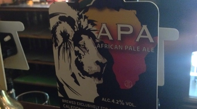 African Pale Ale – The Standeaven (Caledonian) Brewery