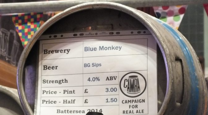 BG Sips – Blue Monkey Brewery