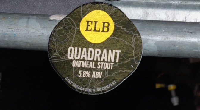 Quadrant Oatmeal Stout – East London (ELB) Brewery
