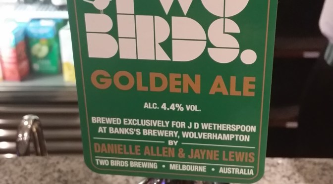 Two Birds Golden Ale – Bank's (Two Birds) Brewery