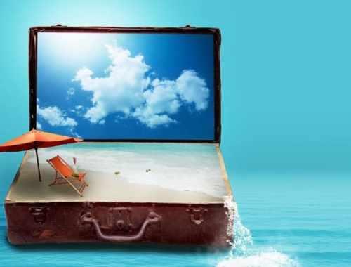 partir pas cher : valise et mer