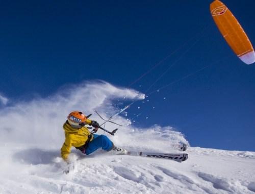 snowkite - sports d'hiver