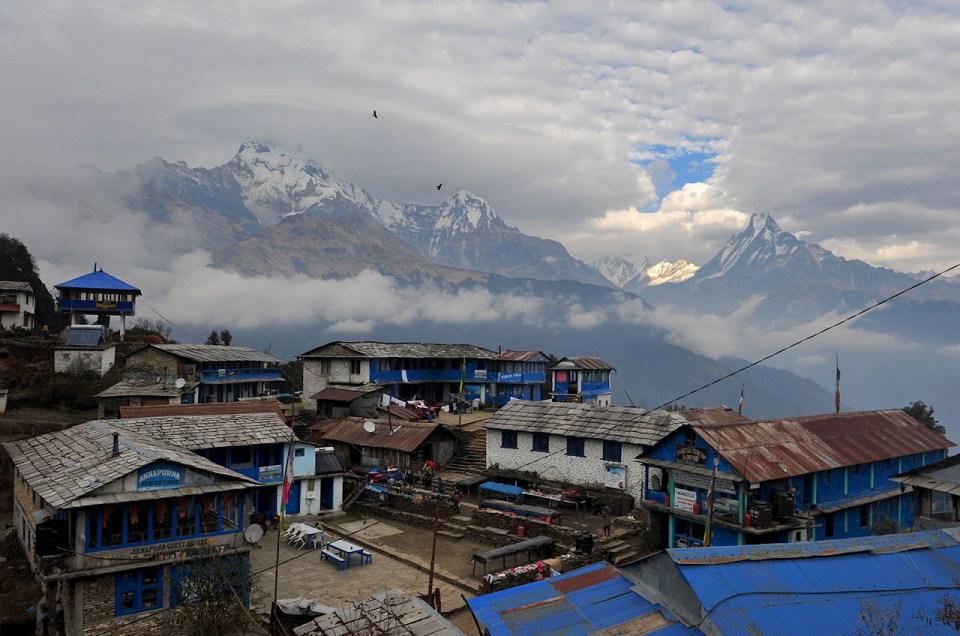 trek au Nepal - village dans les montagnes