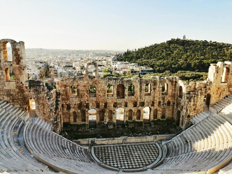 théâtre romain à Athènes en Grèce
