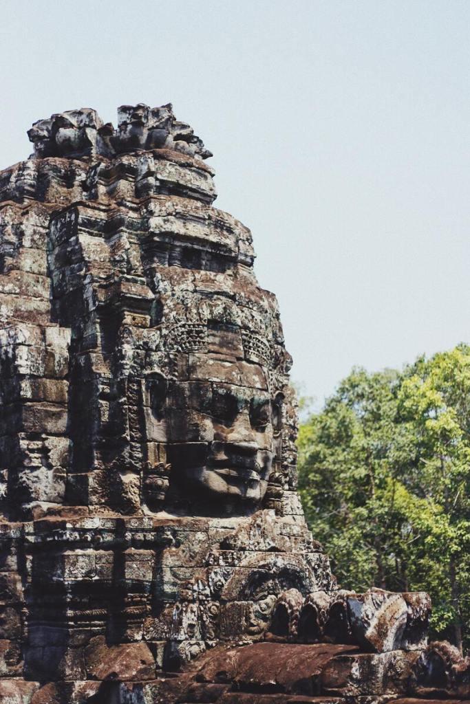 Siem Reap sculpture dans la roche