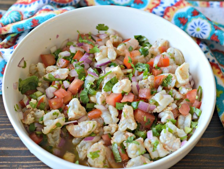 The Best Ever Mexican Style Shrimp Ceviche Recipe With