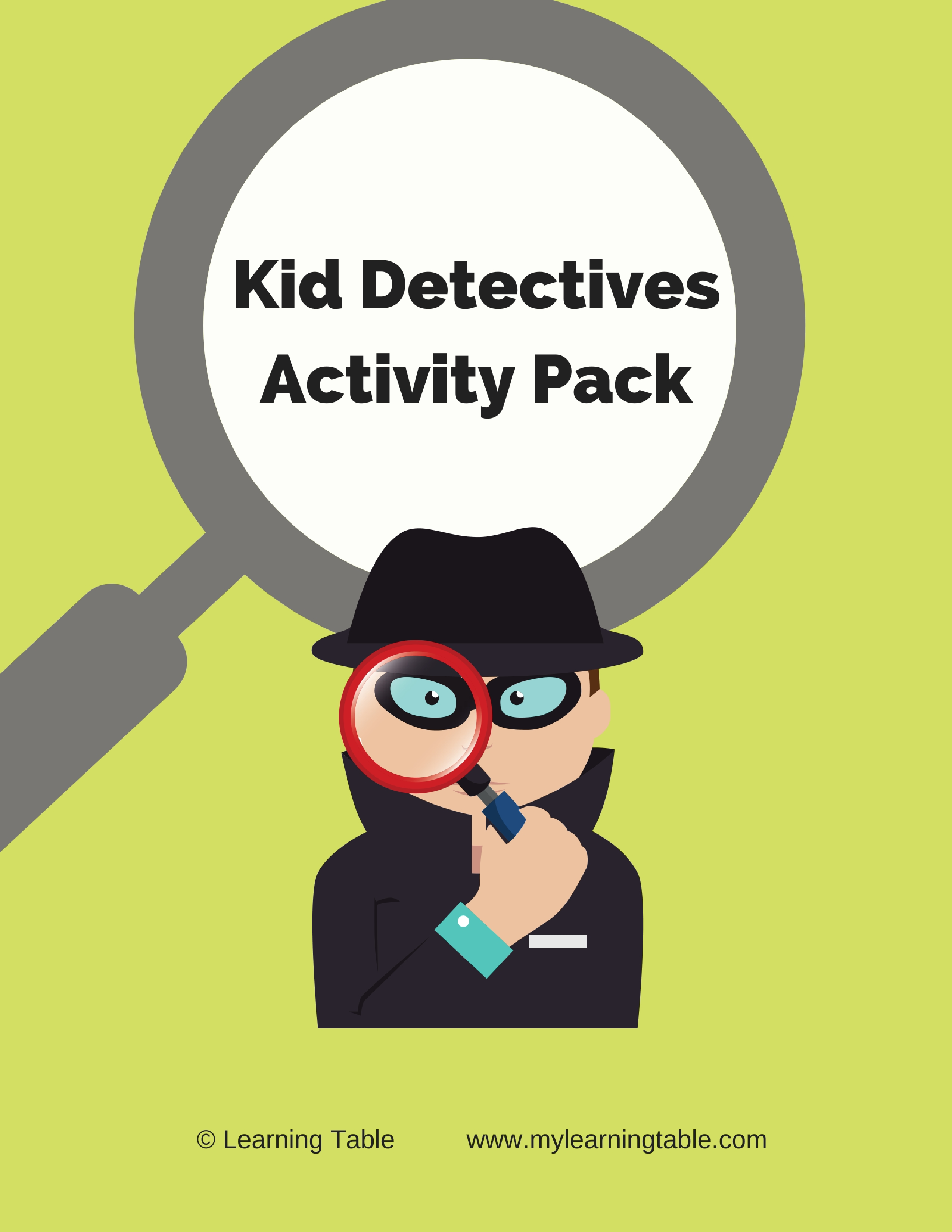 Kid Detectives Activity Pack Learning Table