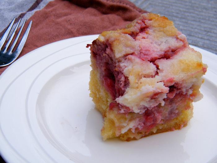 kokos aardbeien taart