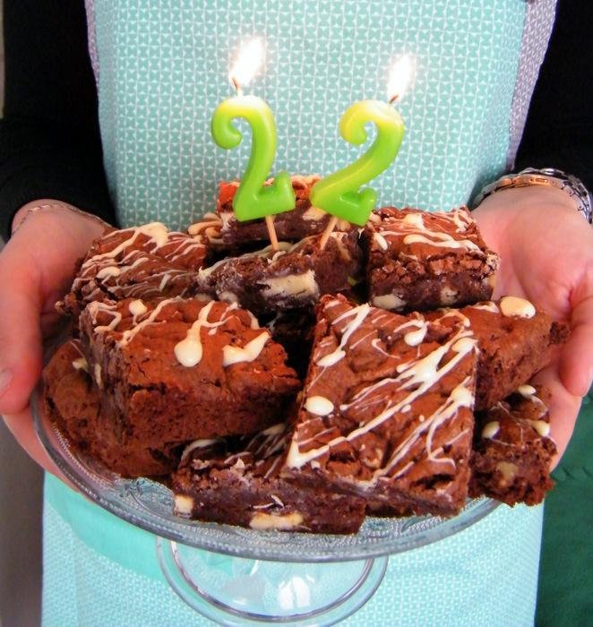 verjaardags brownie