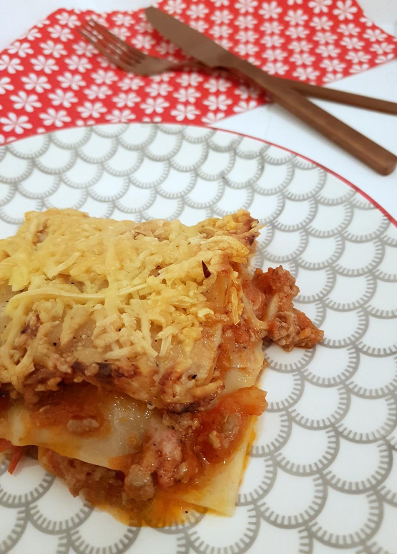 snelle lasagne met rode pesto