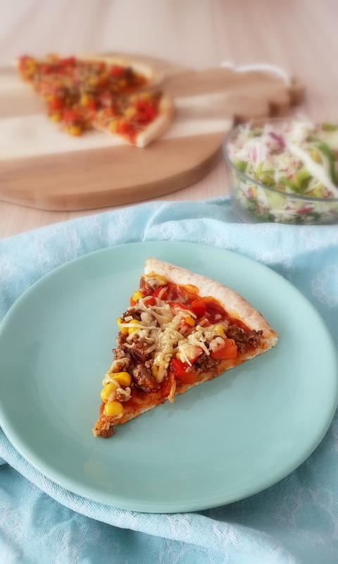 Tex-Mex Pizza met gehakt