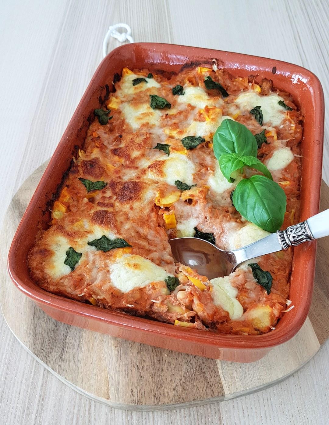 Ovenschotel met pasta en tonijn