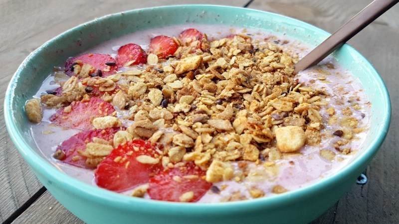 Aardbeien Smoothie-Bowl
