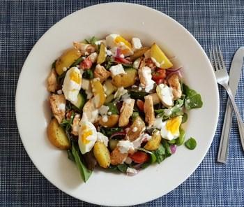 krieltjessalade met kip en citroenmayonaise