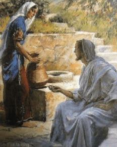 "Yeshua sat with the ""woman at the well"""