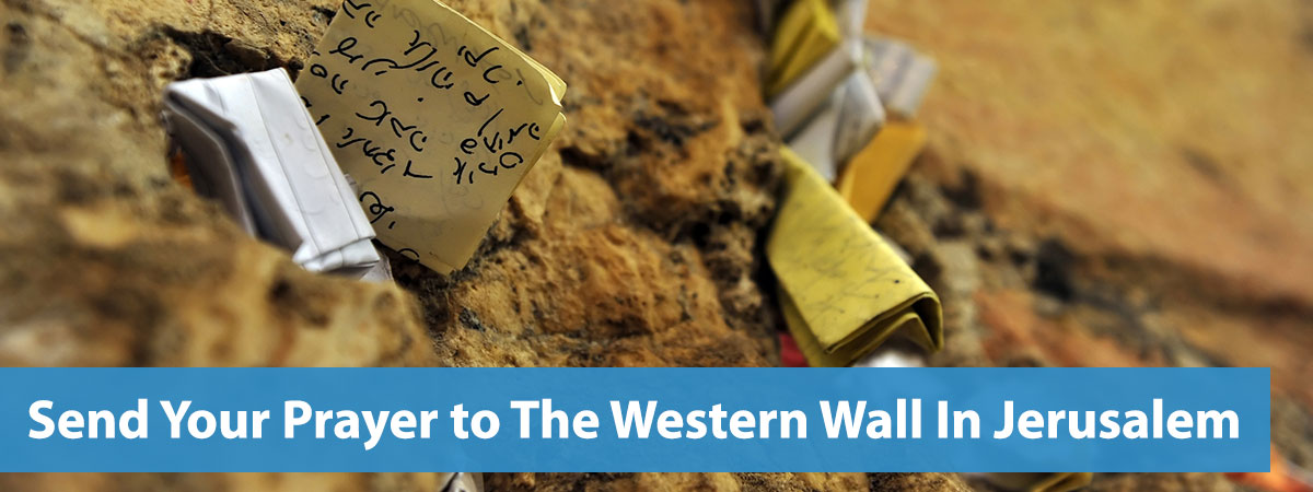 Send Your Prayer to The Western Wall In Jerusalem