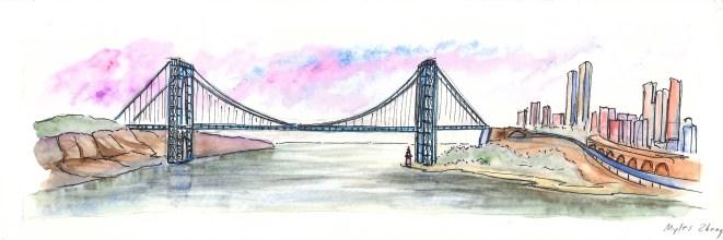George Washington Bridge from Riverside State Park