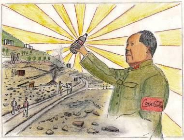 Chairman Mao drinks Coca-Cola