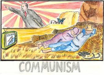 """Communism (homage to """"Sleeping Peasants"""" by Jean-François Millet)"""