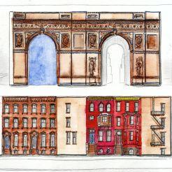 Arch & Brownstones