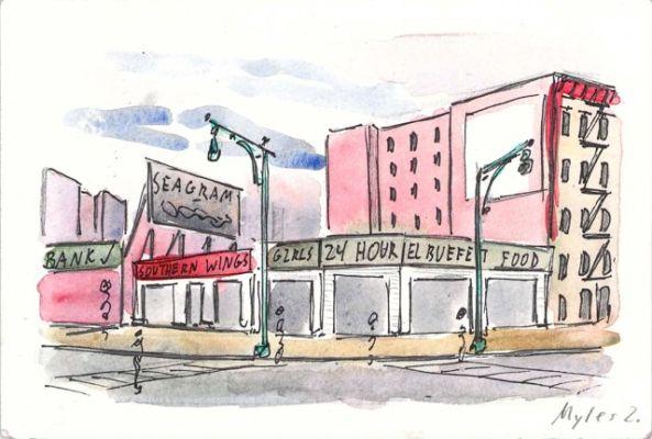 Dyckman Street Strip Mall