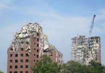 Demolition of Brewster Douglas Homes