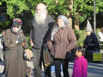Eccentric family in Washington Square Park