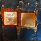 Cobblestones Commemorating Jews Deported to Auschwitz
