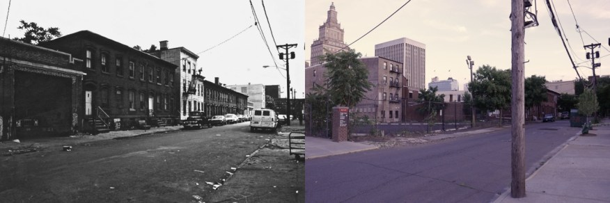 Eagle Street in 1978, demolished by Rutgers