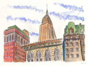 View of Empire State from Greeley Square