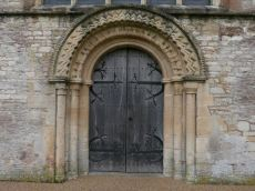 Norman era entrance to the church, dating from around 1175.