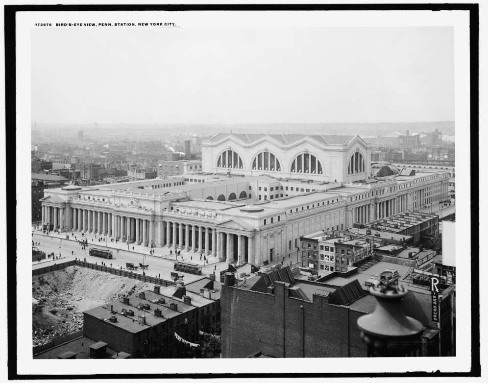 Bird's Eye View from Northeast to Southwest in 1910-20