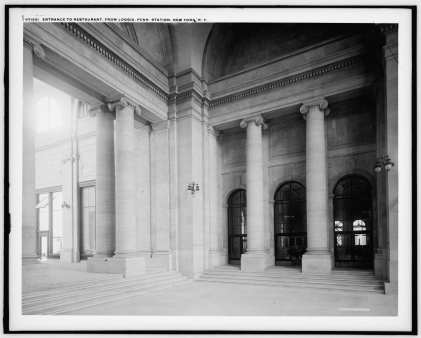 Arcade at Entrance to Waiting Hall in 1905-15