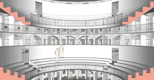 Rotunda with blinds opened