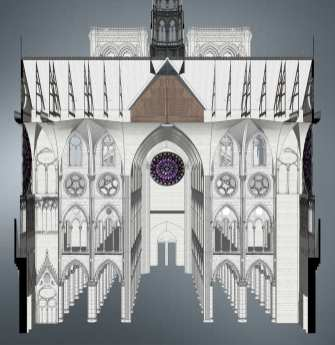 Cross Section of Transept and Nave