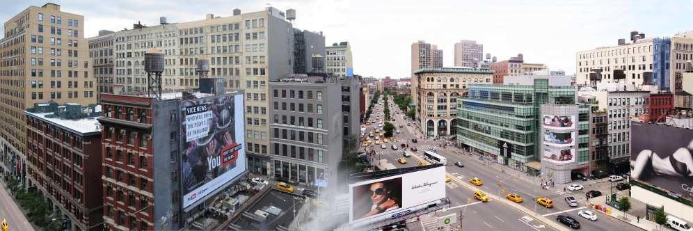 Panorama of SoHo and Houston Street