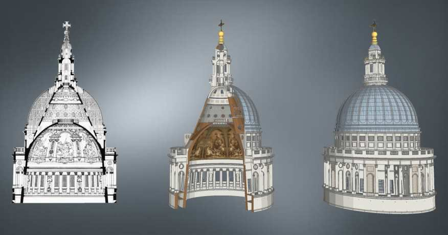 2D Cross Section, 3D Cross Section, Complete Dome