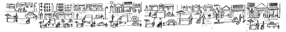 Eight sketches of Chinatown