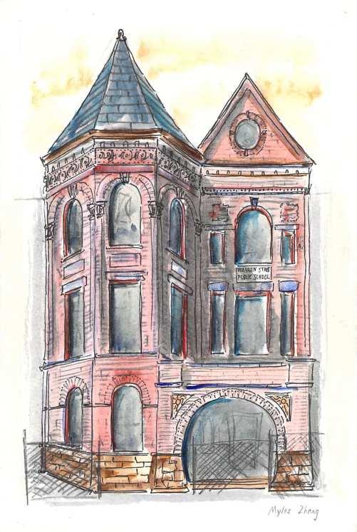 Warren Street School Entrance (5-4-21)