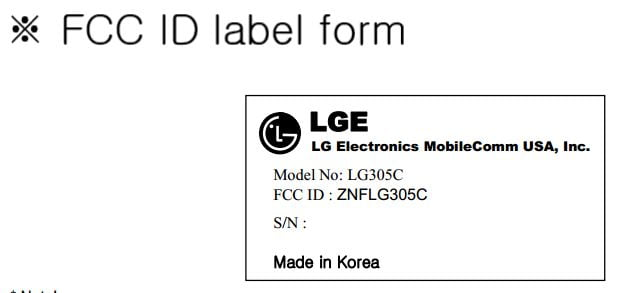 LG 305C for Tracfone approved by FCC